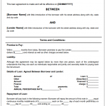 Personal Loan Agreement Sample