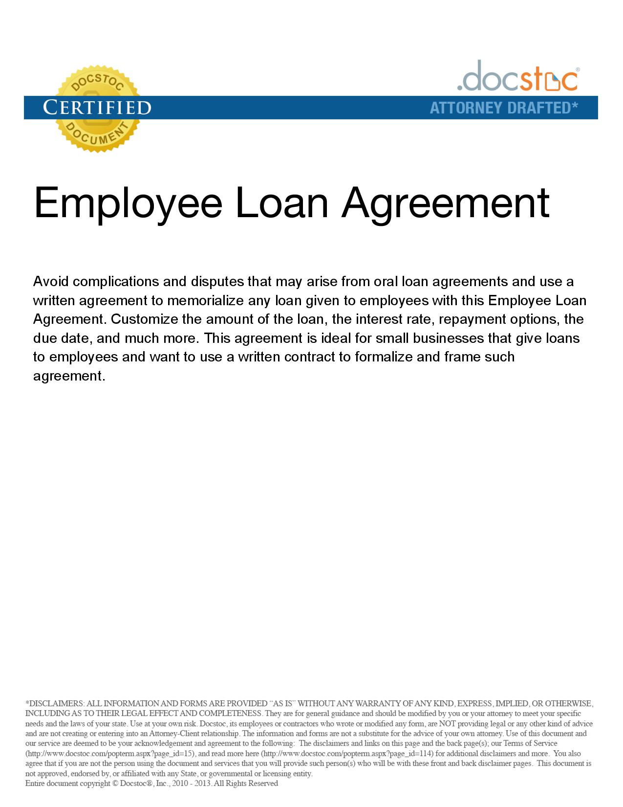 sample loan agreement