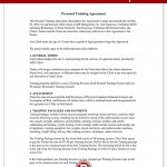 Personal Trainer Contract