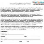 Photographer Release Form