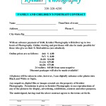 Portrait Photography Contract