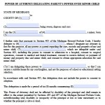 Power Of Attorney Form For Child