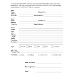 Printable Bill Of Sale For Travel Trailer