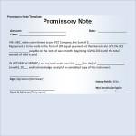 Promissory Note Example