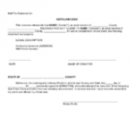 Quit Claim Deed Sample Form