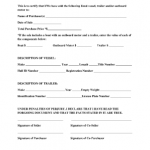 RV Bill Of Sale Form