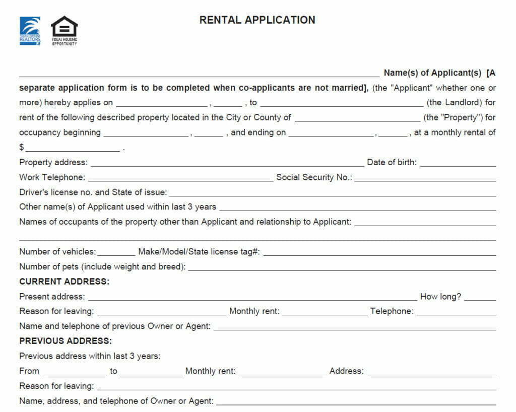 Sample of car rental agreement form