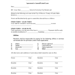 Rental Lease Renewal Form