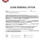 Rental Lease Renewal Form