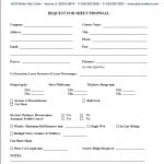 Request For Proposal Form