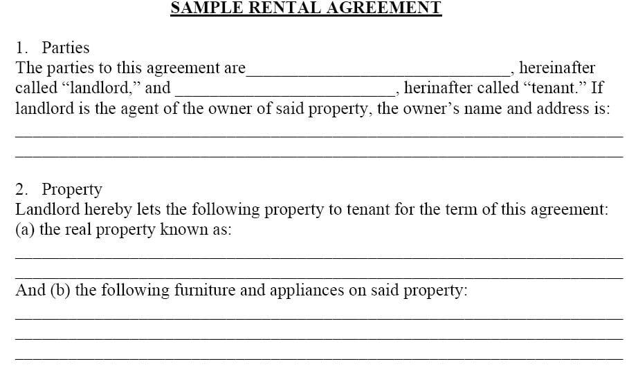 Room Rental Agreement Form Free Printable Documents