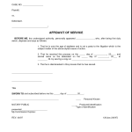 Sample Affidavit Of Service