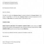 Sample Employment Verification Letter