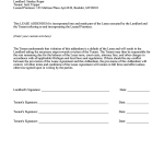 Sample Lease Amendment