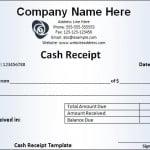 Sample Receipt
