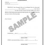 Sample Sworn Affidavit