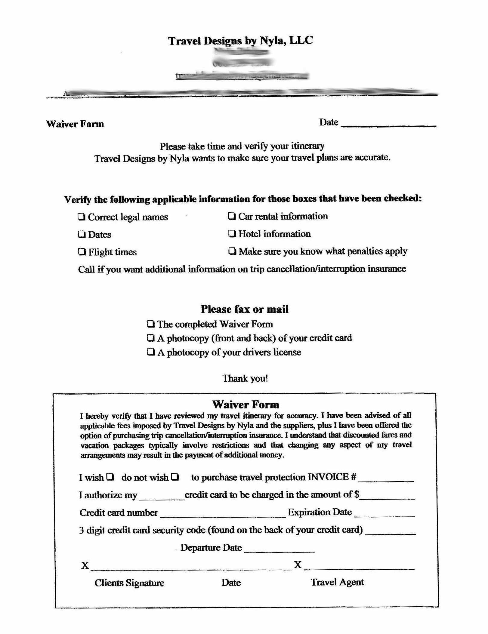 Sample Waiver Form Free Printable Documents