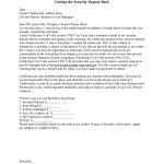 Security Deposit Refund Letter Template
