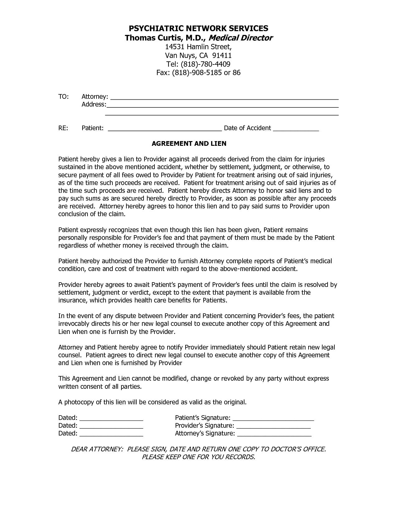 Settlement Agreement Letter Free Printable Documents