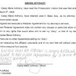 Signed Affidavit Example