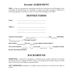 Simple Investment Contract Template