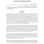 Simple Last Will And Testament Sample