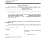 Special Warranty Deed Example