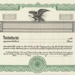 Stock Certificates Blank