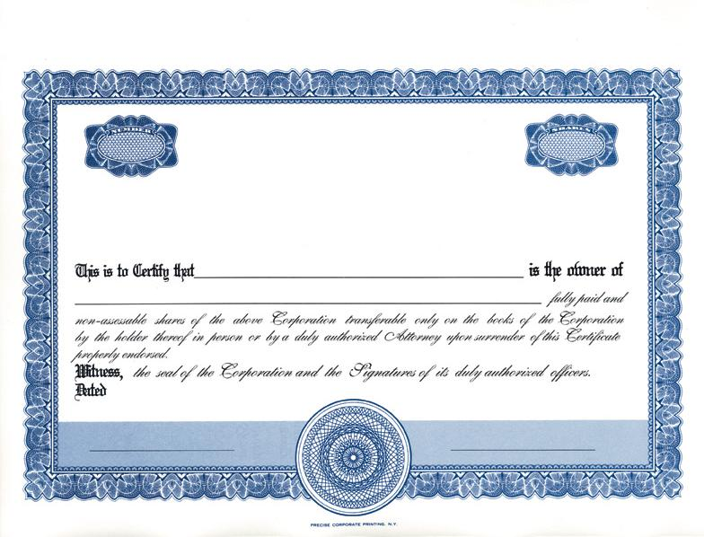 stock certificates blank free printable documents. Black Bedroom Furniture Sets. Home Design Ideas