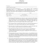 Storage Lease Agreement