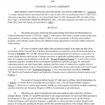 Strategic Partnership Agreement Sample