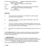 Sublet Contract