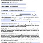Sublet Form
