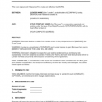 Template Loan Agreement