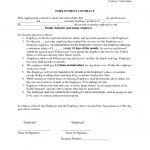 Temporary Employment Contract Sample Form