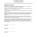 Termination Of Contract Form