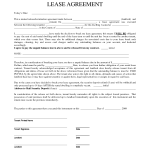 Termination Of Lease Agreement Form