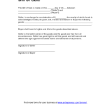 Tractor Bill Of Sale