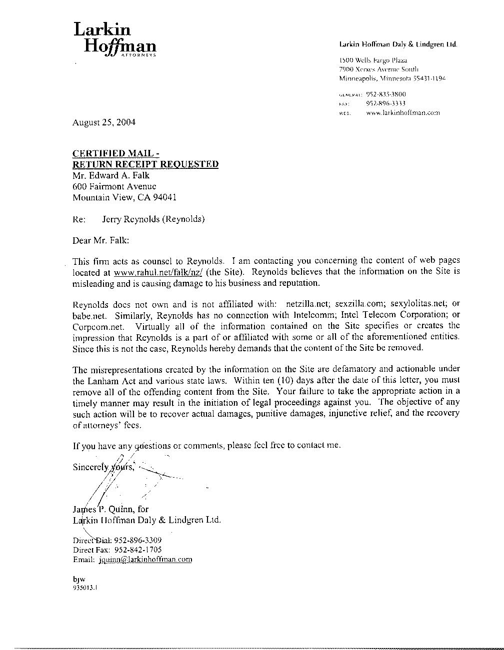 trademark cease and desist letter sample