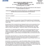 Vacate Notice To Tenant