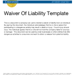 Waiver Of Liability Sample