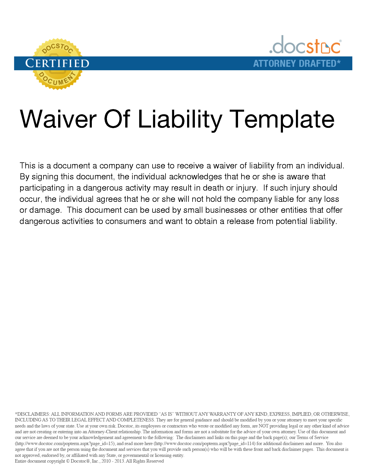 Waiver-Of-Liability-Sample-007 Sale Agreement Letter Template on retail sample contract, spanish for, microsoft word, motor vehicle, free printable purchase, service line,