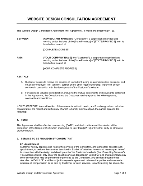 development contract templates
