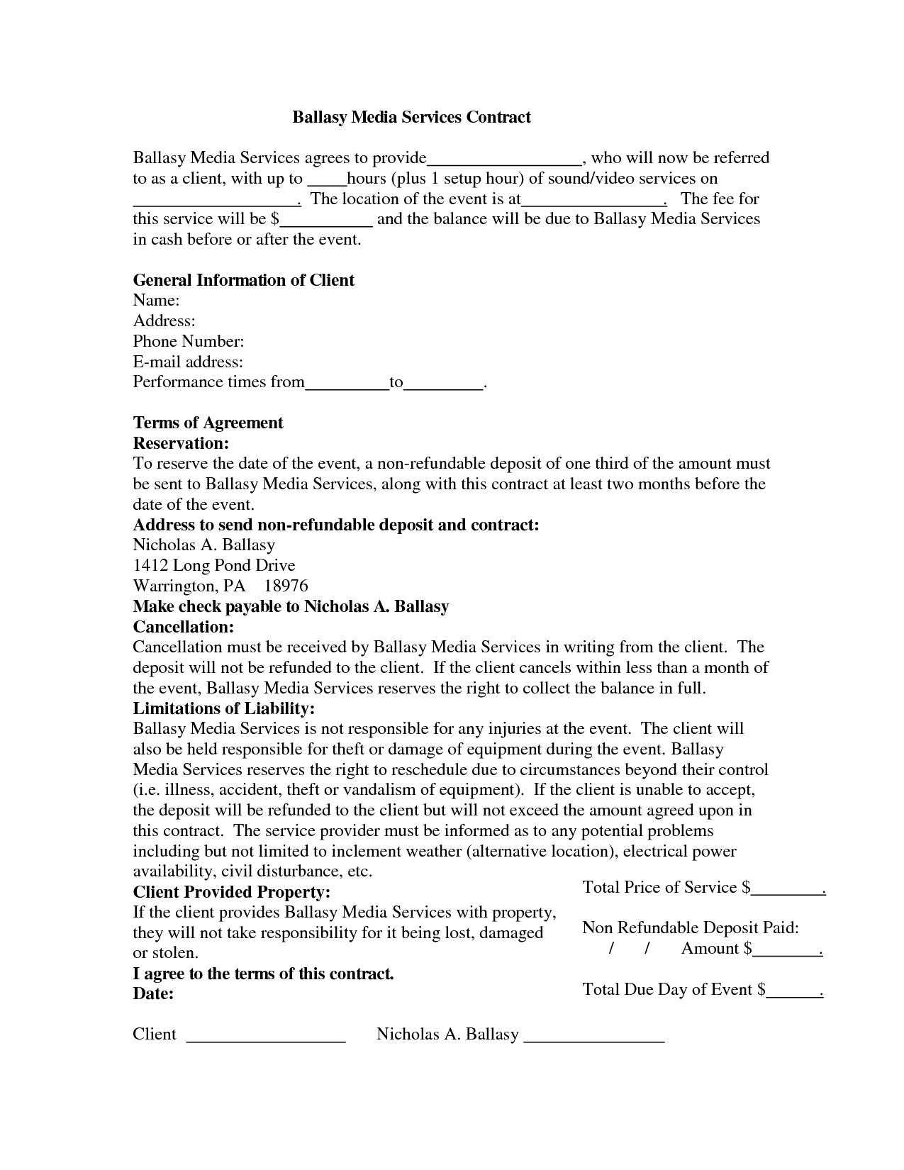 Wedding Dj Contract Kadil Carpentersdaughter Co