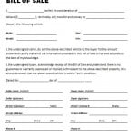 What Does A Bill Of Sale Look Like