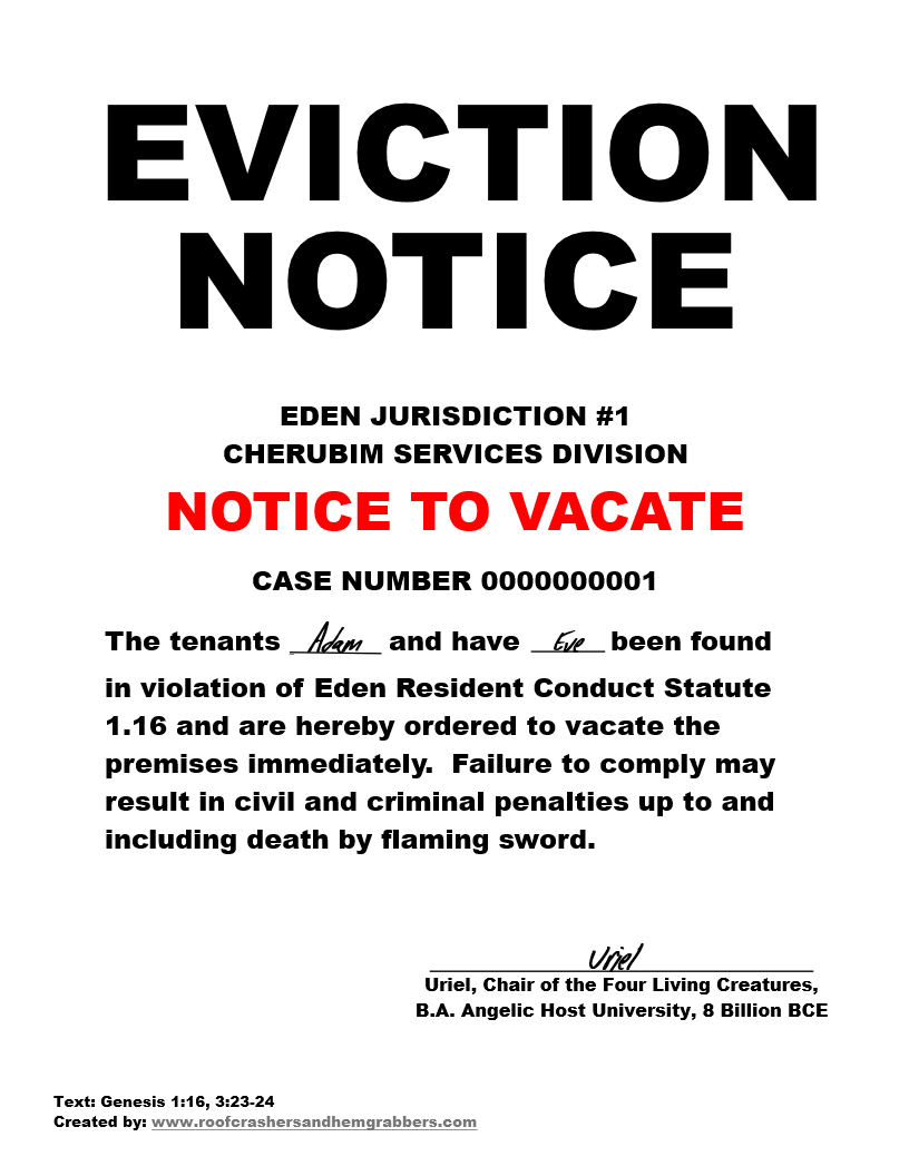 What Does An Eviction Notice Look Like Free Printable