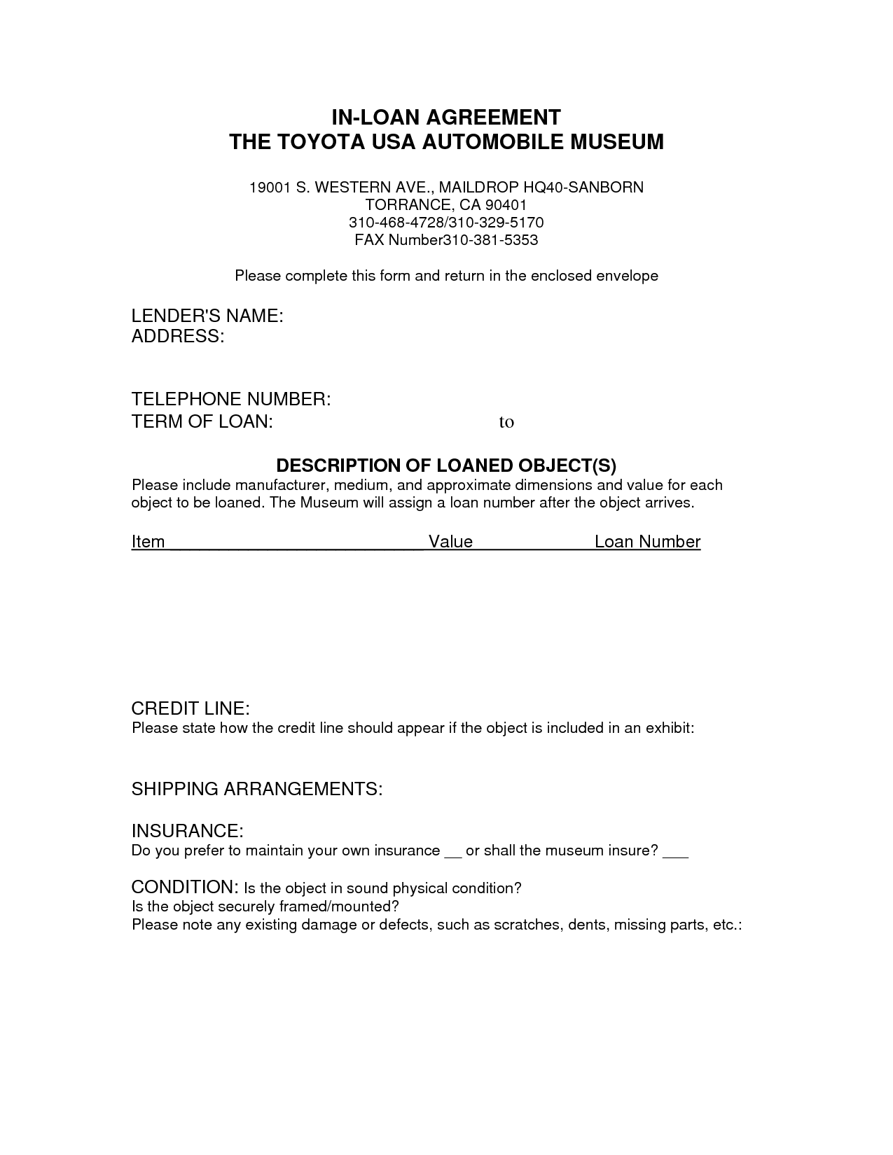 Car Payment Contract Template Free Printable Documents