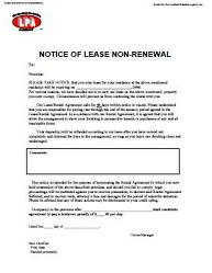 commercial lease extension option letter of not renewing lease free printable documents 16923