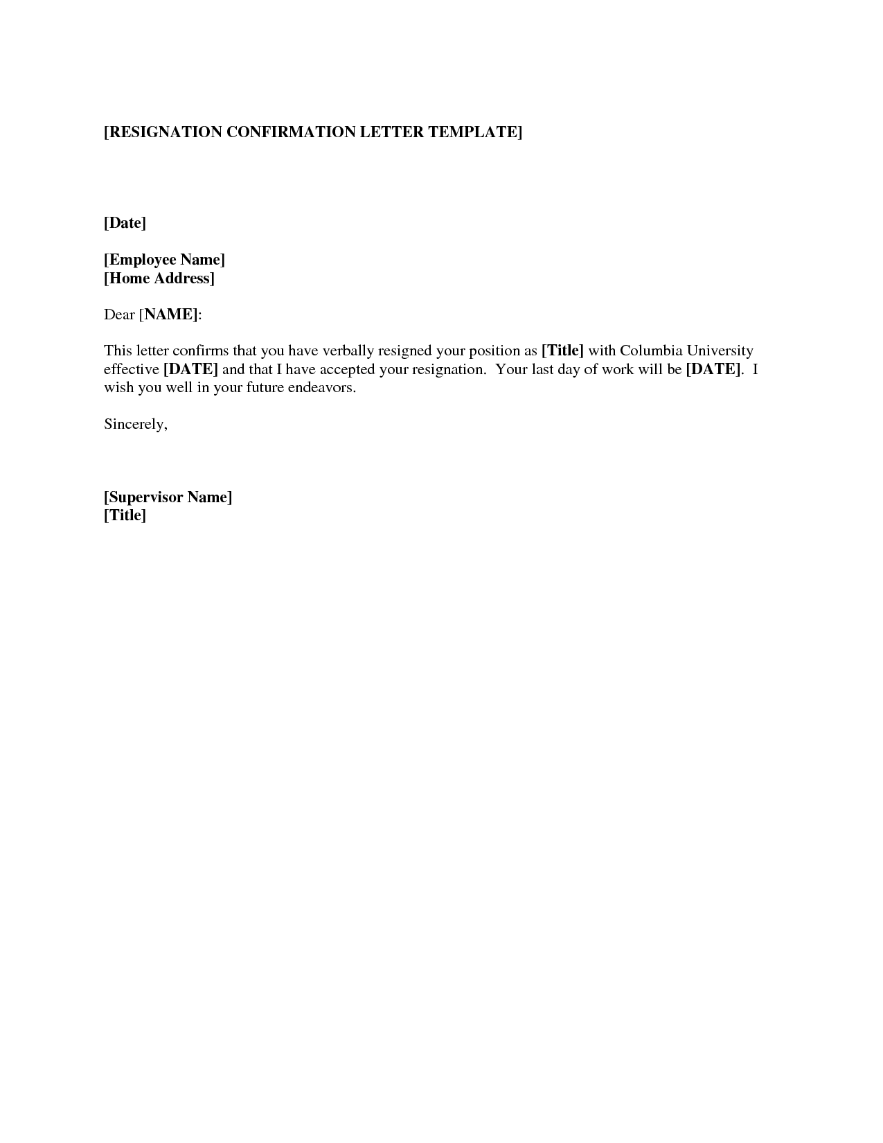 letter of resignation template resignation letter free printable documents 1424